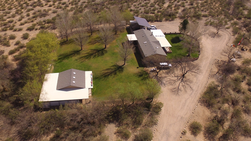 Aerial view of Irondog's Cottonwood Kennels